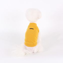 T.터들넥 니트 민소매 Turtle neck knit sleeveless T Mustard