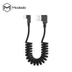 Mcdodo 더블 L타입 코일스프링 LED 8핀 충전케이블 3A