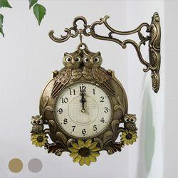 잉꼬 썬부엉이 양면시계 SUN-297