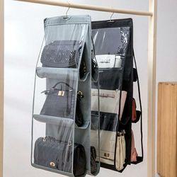 부직포 다용도 가방걸이 수납걸이 가방보관함 정리함