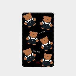 overalls pattern slow bear 보조배터리