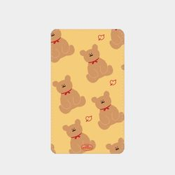 adult bear pattern yellow 보조배터리