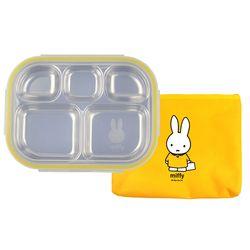 레이저 스텐 미피 식판도시락 가방세트(노랑)