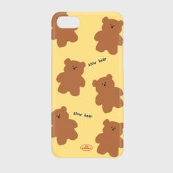 pattern yellow slow bear 하드케이스
