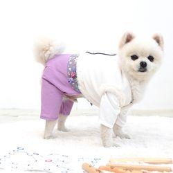강아지옷 한복누빔 배자