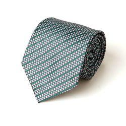 그린 기하학 패턴 남자 넥타이