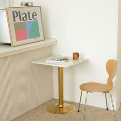천연대리석-600사각-골드3인치 티테이블 북유럽 카페