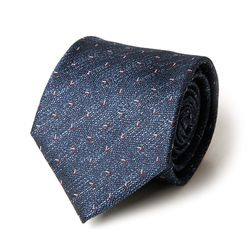 네이비 초성 패턴 남자 넥타이