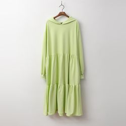 Spring Cancan Hood Long Dress