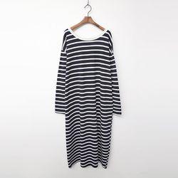Stripe Boxy Long Dress