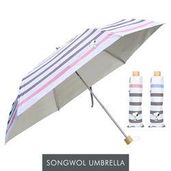 송월 스누피 3단 스트라이프 양우산