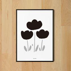 튤립2 M 유니크 인테리어 디자인 포스터 식물 A3(중형)