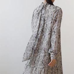 Phyton Pleated Long Dress