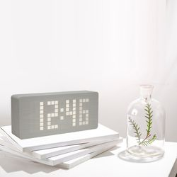 LED 프리미엄우드 탁상시계 무소음 led시계 인테리어