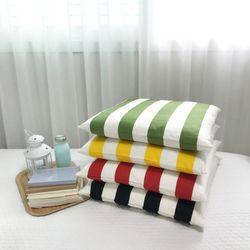 포인 스트라이프 방석쿠션 (4colors)