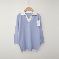 Laine Wool Collar Sweater - 7부소매
