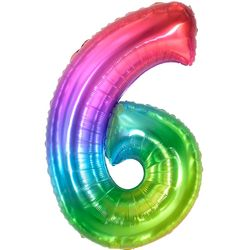 숫자은박풍선 대 [6] 레인보우