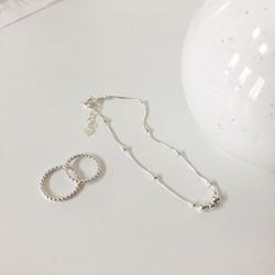 [92.5 silver] Raindrop anklet