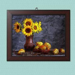 사진액자or그림액자 브라운 11x14 20.yellow flowers