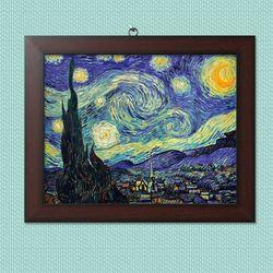 사진액자or그림액자 브라운 11x14 18.별이 빛나는 밤