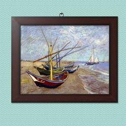 사진액자or그림액자 11x14 15.생트마리해변의 고깃배