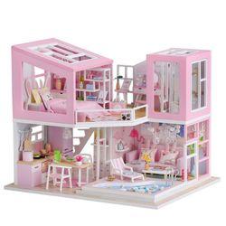 [adico]DIY 미니어처 하우스 - 핑크 풀빌라
