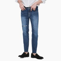 LM026 DAMAGE STRAIGHT JEANS