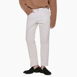 LM043 NATURAL STRAIGHT CREAM JEANS