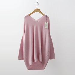 Laine Wool Cashmere V-Neck Unbal Sweater