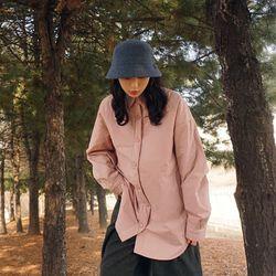 오버핏 본딩 셔츠롱 남방n206