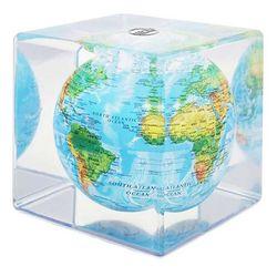 빛만 있으면 OK 자가회전 지세도 지구본 큐브 128mm