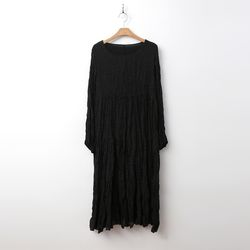 Dot Pleats Long Dress