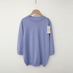 Laine Wool Sweater - 반팔