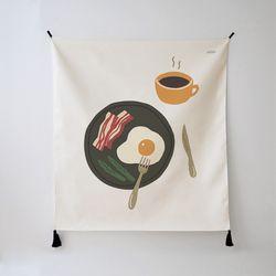 계란 일러스트 패브릭 포스터.가리개 커튼 (행잉L)