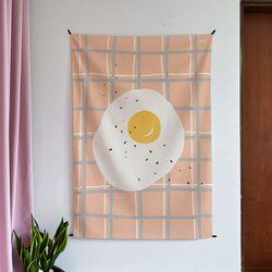 계란 일러스트 패브릭 포스터.가리개커튼 (태피스트리)