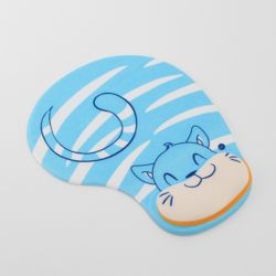 실리콘 블루캣 손목 마우스패드