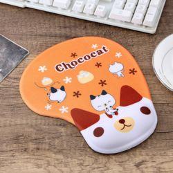 실리콘 초코캣 손목 마우스패드