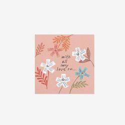 꽃꽃 러브 스티커(10개)