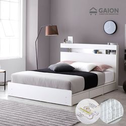 레이어 LED 서랍형 침대 K 양모 지퍼볼