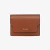 REIMS W020 zip Card Wallet CamelBrown