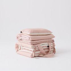 실키코튼 낮잠이불 full 세트 핑크베이지