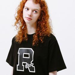 RONRON MARK T-SHIRT BLACK