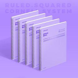 스프링북 컬러칩 - 바이올렛 (코넬시스템) 5EA