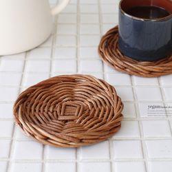 라탄 티코스터 컵받침