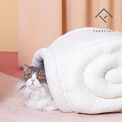 퓨리테일 고양이 달팽이터널 숨숨집 하우스-화이트