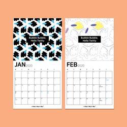 [드로잉캘린더] BUBBLE BUBBLE HELLO TWITTY 1월 2월