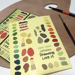 Colour palette sticker