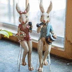 롱체어 토끼 커플 2p set