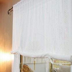 코튼레이스 화이트 롤업커튼 (145x235cm)