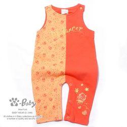 S-28182 러블리 키티 순면 멜빵 우주복 Orange (0-12개월)